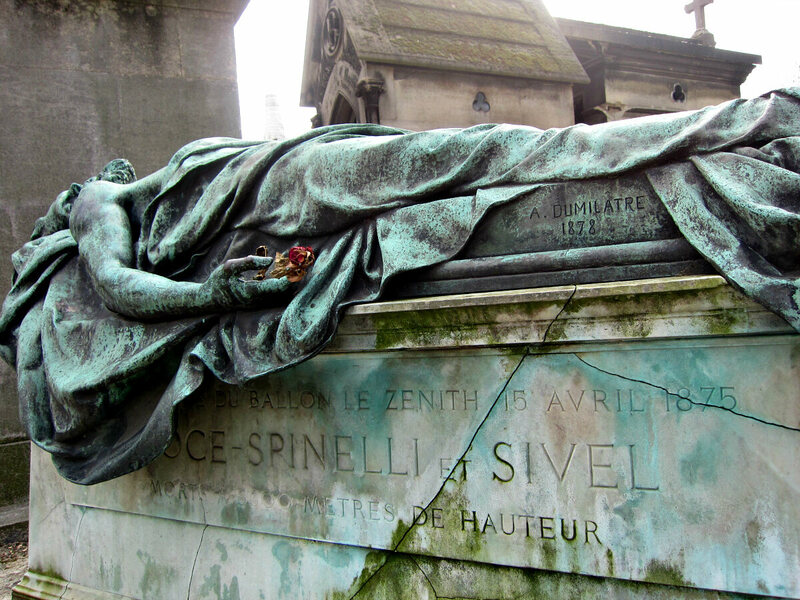 Balloonists Joseph Croce-Spinelli and Théodore Sivel in Pere Lachaise